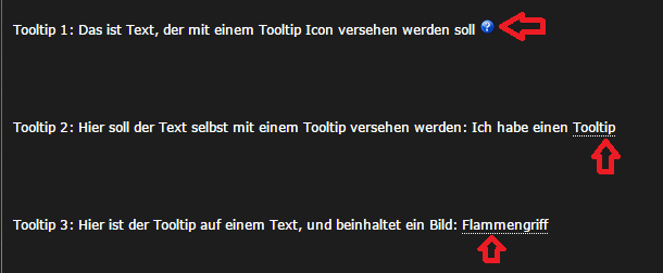 So siehts aus. Tooltips